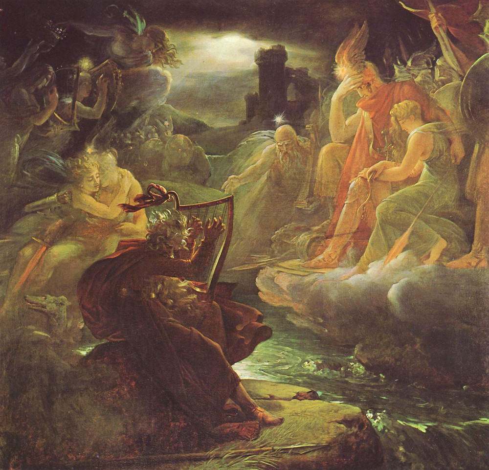 F. Gèrard, Ossian evoca i fantasmi, olio su tela, 1801