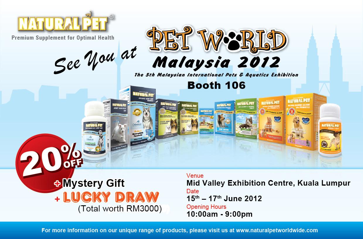 Natural Pet   Pet World Malaysia 2012