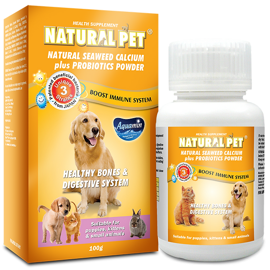 Natural Pet Natural Seaweed Calcium Plus Probiotics Powder