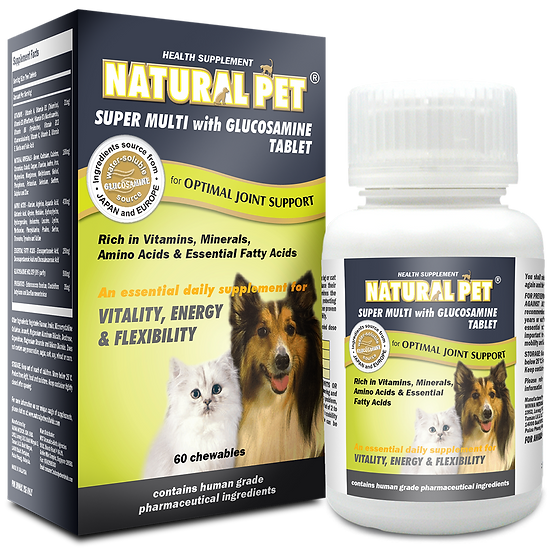 Natural Pet Super Multi with Glucosamine Tablet