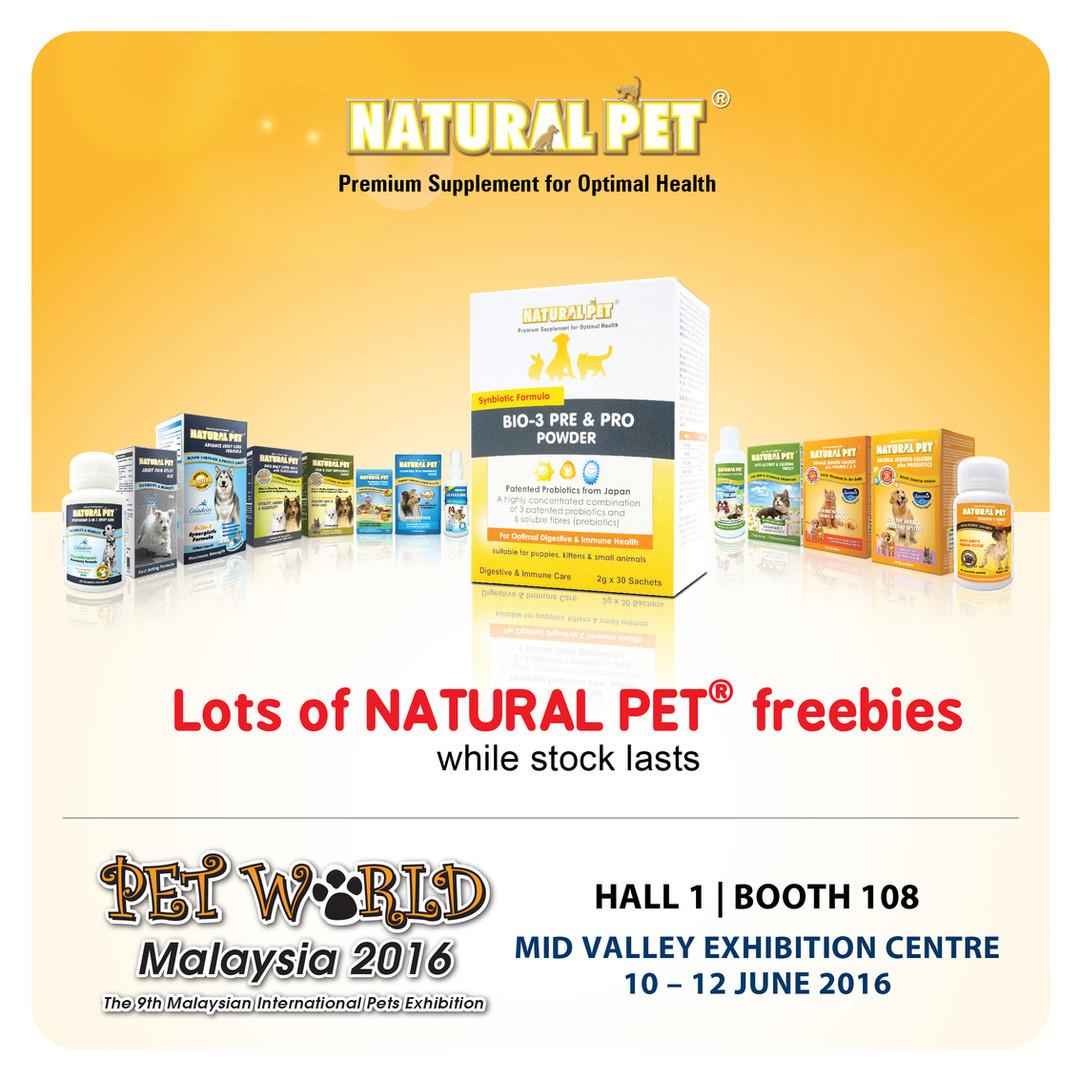 Natural Pet   Pet World Malaysia 2016
