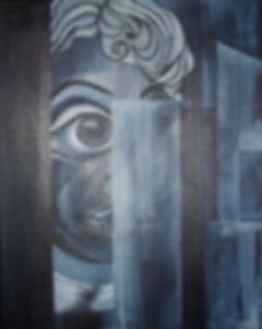 Verschachtelt    Acryl auf Leinwand  50x40cm