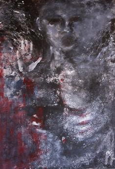 Angel Acryl auf Leinwand/ 100x70cm