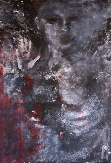 Angel  Acryl auf Leinwand 100x70cm