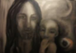 Vater und Sohn Acryl auf Leinwand/ 50x70cm