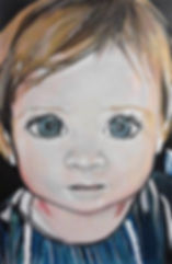 Auftragsarbeit/ Kind/ Acryl auf LW/ 50x70cm