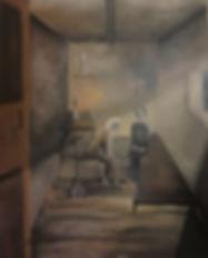 Der erste Abschied Acryl auf Leinwand/ 100x70cm