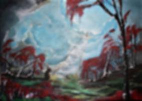 Jenseits Acryl auf Leinwand/ 40x60cm