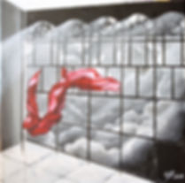 Window Acryl auf Leinwand/ 50x50cm