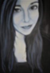 Auftragsarbeit/ junge Frau/ Acryl auf LW/ 50x70cm
