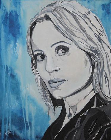 Portrait Angélique Duvier/ Acryl auf LW/ 40x50cm