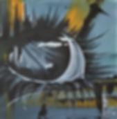 Eye blue Acryl auf Leinwand/ 40x40cm