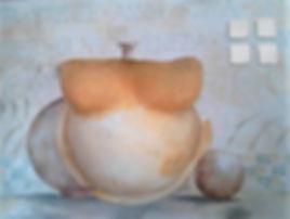 Kein Titel Gips & Acryl auf Leinwand/ 40x50cm