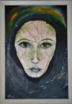 Zerrissen Acryl &Marmormehl auf Leinwand/ 70x50cm