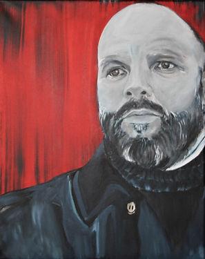 Portrait Klaus Küsel/ Acryl auf LW/ 40x50cm