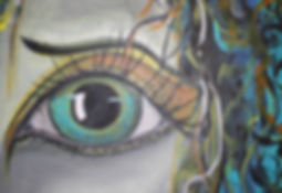 Postkarte Auge green