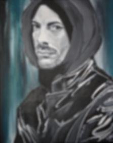 Portrait Tom Pidde/ Acryl auf LW/ 40x50cm
