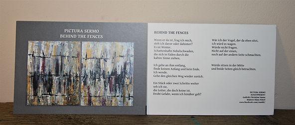Kunstkarte BEHIND THE FENCES DIN A6/ beidseitig bedruckt 2,50-€ plus Versand