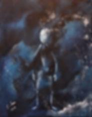 Dunkel Acryl auf Leinwand/ 50x40cm