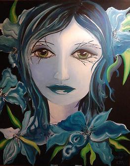 Jolie Acryl auf Leinwand/ 100x80cm