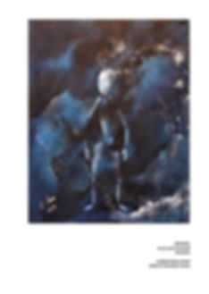 Dunkel/ Acryl auf LW/ 40x50cm/ PICTURA SERMO