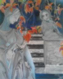 Liebe in Marmor Acryl auf Leinwand/ 100x80cm