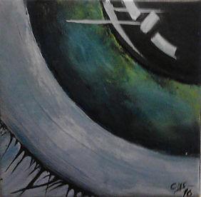 Die Welt im Auge Acryl auf Leinwand/ 20x20cm