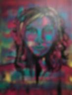 Transparenz Acryl auf Leinwand/ 70x50cm