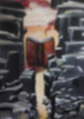 Lies in mir Acryl auf Leinwand/ 100x70cm