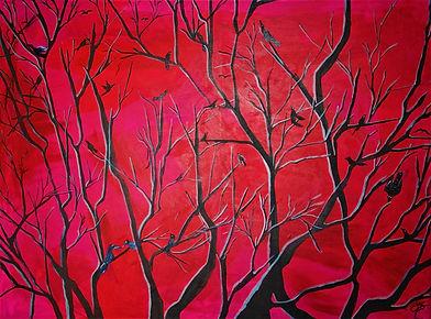 Abendrot Acryl auf Leinwand/ 60x80cm