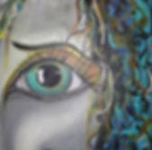 Eye green Acryl auf Leinwand/ 50x50cm