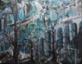 Freude, Traurigkeit und ...  Acryl auf Leinwand 50x60cm