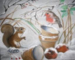 Winterzeit/ Acryl auf Leinwand/ 40x50cm
