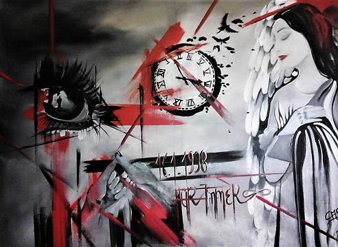 Auftragsarbeit Ehe Acryl auf Leinwand/ 90x120cm