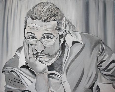 Portrait Jean M. Laffiteau/ Acryl auf LW/ 50x40cm