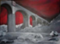 Aquädukt Acryl auf Leinwand/ 60x80cm