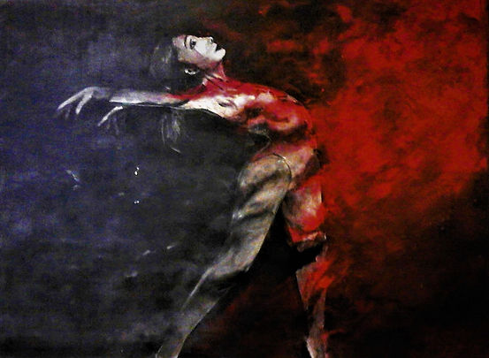 Drang nach Freiheit Acryl auf Leinwand/ 90x120cm