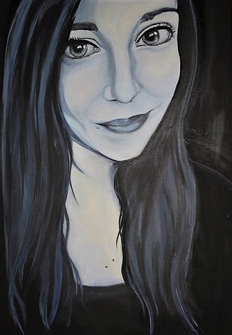 Auftragsarbeit junge Frau Acryl auf Leinwand/ 100x70cm