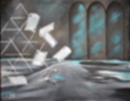 Leere Acryl auf Leinwand/ 40x50cm