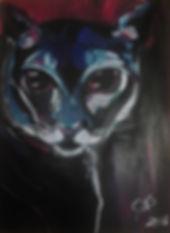 Katze Acryl auf Acrylpapier/ DIN A3