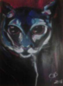 Katze  Acryl auf Acrylpapier DIN A3
