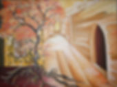 Auftragsarbeit Baum Acryl auf Leinwand/ 50x70cm