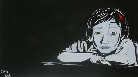 Ahn  Acryl auf Leinwand 70x100cm