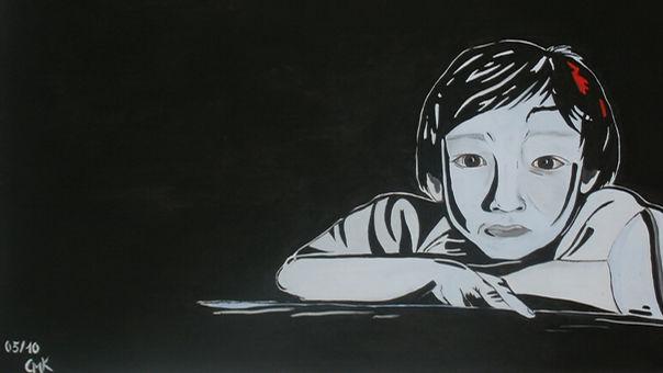 Ahn Acryl auf Leinwand/ 70x100cm