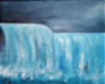 Die Brandung der Wellen schlägt gegen mein Herz Acryl auf Leinwand/ 60x80cm
