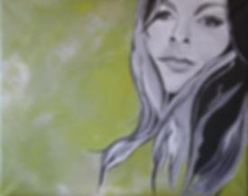 Portrait Ivonne Bulkow/ Acryl auf LW/ 50x40cm