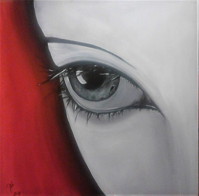 Eye red  Acryl auf Leinwand 50x50cm