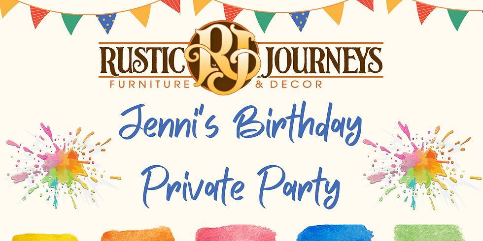 Jenni's Birthday: Private Party