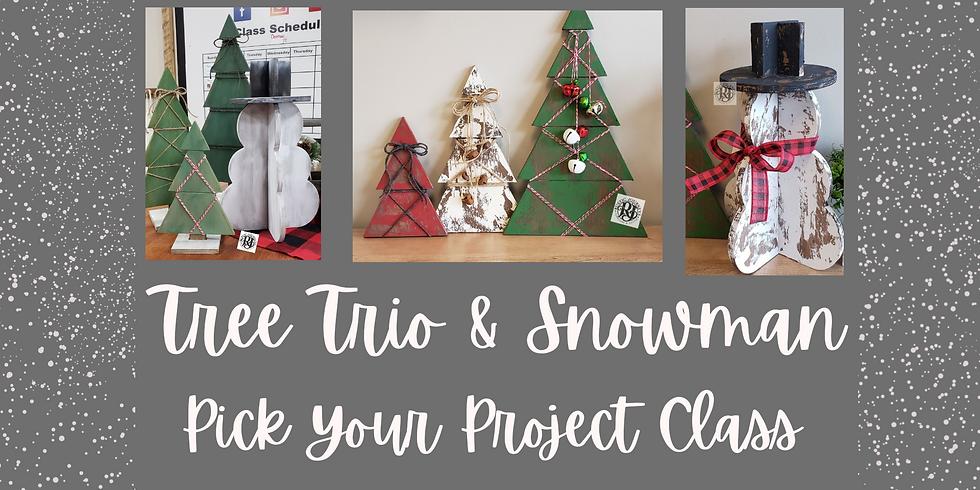 Tree Trio or 3-D Snowman Nov21