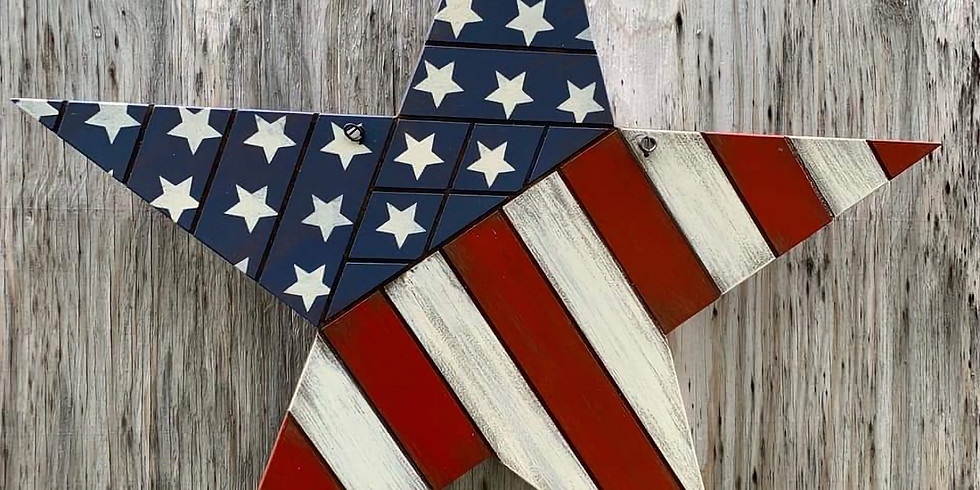 PRIVATE - Boo - Patriotic Wood Stars - July 20